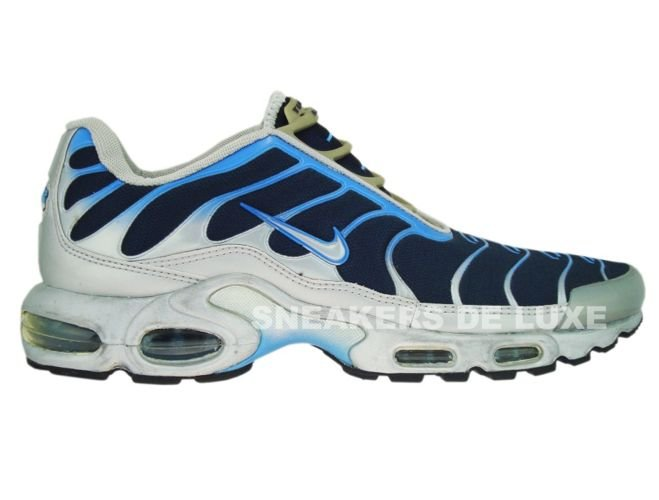 online retailer ea886 c05cc Nike Air Max Plus TN 1 Slip On SilverBlue ...