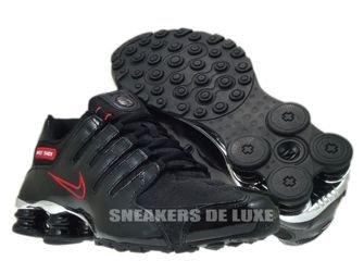 325201-025 Nike Shox NZ EU Black/Black-Sport Red