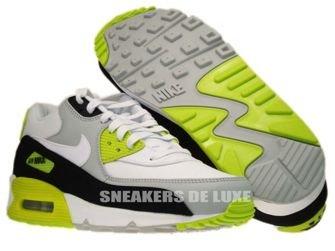 333888-018 Nike Air Max 90 Premium Strat Grey/White-Black-Cyber