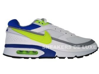 358797-106 Nike Air BW Classic White/Hot Lime-Team Royal-Wolf Grey