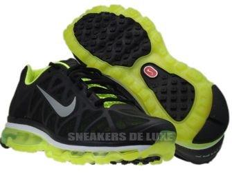 429889-007 Nike Air Max 2011+ Black/Metallic Cool Grey-Volt