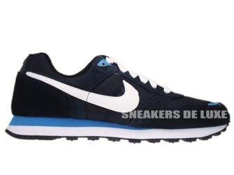 456535-014 Nike MD Runner Black/White-Dynamic Blue