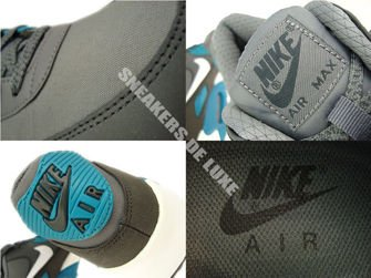 537384-010 Nike Air Max 90 Essential Dark Grey/White-Anthracite-Tropical Teal