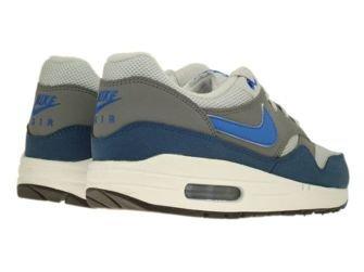 555766-040 Nike Air Max 1 Geyser Grey/Prize Blue-Cool Grey