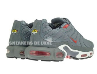 604133-080 Nike Air Max Plus TN 1 Cool Grey/Challenge Red-Black