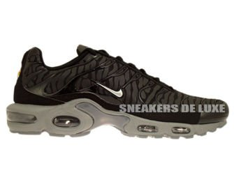 604133-087 Nike Air Max Plus TN 1 Black / Metallic Silver-Black
