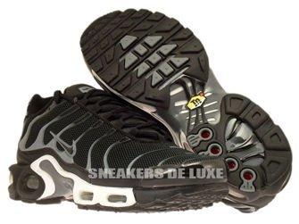 647315-002 Nike Air Max Plus TN 1 Black / Black-Cool Grey