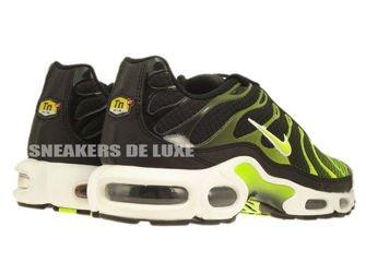647315-071 Nike Air Max Plus TN 1 Black-White/Volt Green