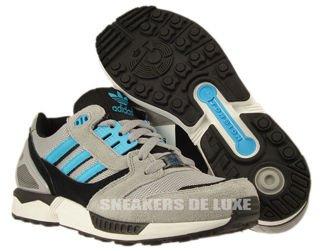 D65458 Adidas Originals ZX 8000 Aluminium/Samba Blue/White Vapour
