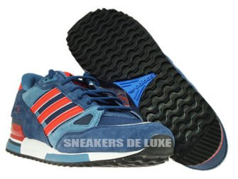 M18260 Adidas ZX 750 Collegiate Navy / Poppy / Running White