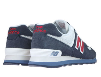 New Balance ML574ESC Navy with Red