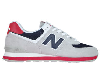 New Balance ML574MUB Rain Cloud with Team Red
