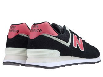 New Balance ML574SMP Black with Pomelo