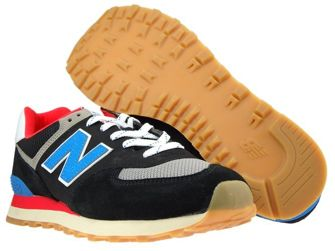 New Balance ML574SOV Black with Neo Classic Blue & Nebula
