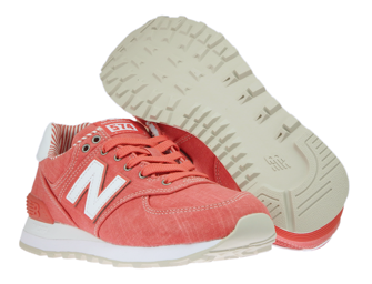 New Balance WL574CHE Beach Chambray Coral with White