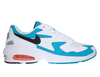 Nike Air Max2 Light AO1741-100 White/Black-Blue Lagoon