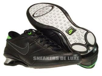 Nike Metro Shox Black/Black Metallic Silver Electric Green