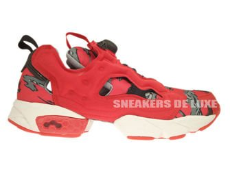 V61560 Reebok X Stash Insta Pump Fury OG Cycle Excellent Red/Grey/Steel