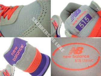 WL515MS New Balance Gray / Orange / Purple